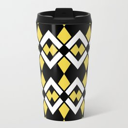 Zig Zag Pattern Yellow Travel Mug