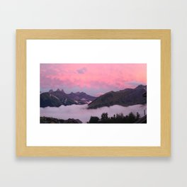 Up high in the pink sky Framed Art Print