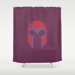 Magneto Helmet Shower Curtain