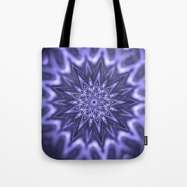 Purple ice Swirl mandala Tote Bag