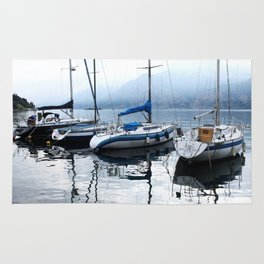 Boats on Lake Garda Rug