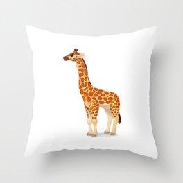 Cute giraffe. Vector graphic character Throw Pillow