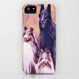Shetland Collies and Belgian Shepherd iPhone Case
