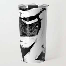 Leaning Figure Monotype - Black Travel Mug