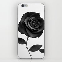 rose iPhone & iPod Skins featuring Fabric Rose by Ruben Ireland