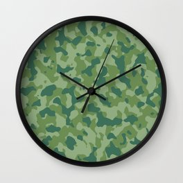 Camouflage Forest Foliage Wall Clock
