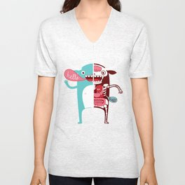 All monsters are the same! Unisex V-Neck