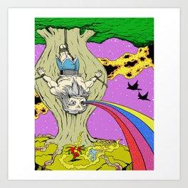 Cosmic Odin Art Print