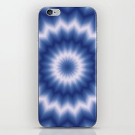 White and blue iPhone Skin
