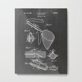 Fishing Patent Drawing Metal Print