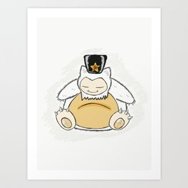 Snolax wakes you Art Print