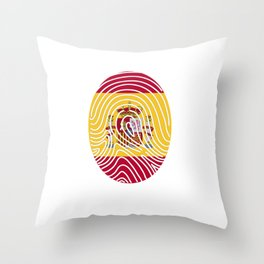 Spain flag Spaniard Spaniard DNA Throw Pillow