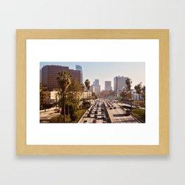 The Rush Hour, DTLA Framed Art Print
