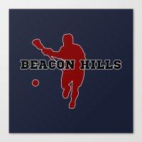 lacrosse Canvas Prints featuring Beacon Hills Lacrosse by Keyweegirlie