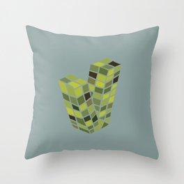 Alphabet Drop Caps Series- V Throw Pillow