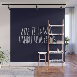 Handle with Prayer x Navy Wall Mural