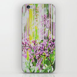 White Washed Painted Lilac iPhone Skin