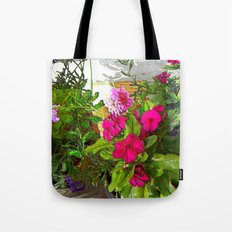 Mixed Annuals Tote Bag