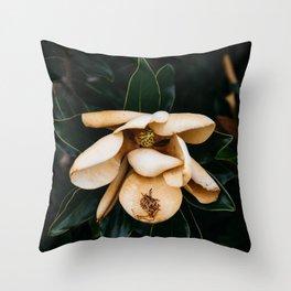 Southern Magnolia Flower Throw Pillow