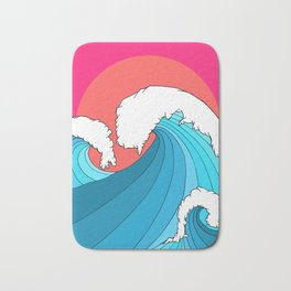 The 3 big waves Bath Mat
