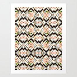 Art deco geometric pattern Art Print