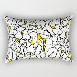 Schlong Song in Yellow, All the Penis! Rectangular Pillow