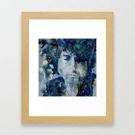Tangled up in Blue ..Bob Dylan Framed Art Print