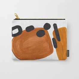 Mid Century Vintage 70's Design Abstract Minimalist Colorful Pop Art Carry-All Pouch