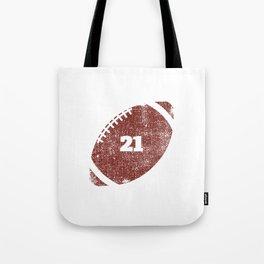 21st Anniversary Football Twenty One Seasons Together Tote Bag