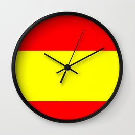 Flag of spain 4-spain,espana, spanish,plus ultra,espanol,Castellano,Madrid,Barcelona Wall Clock