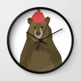 Winter Bear Wall Clock