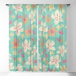 Tropicana floral Sheer Curtain