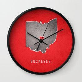 Ohio State Buckeyes Wall Clock