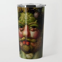 "Giuseppe Arcimboldo ""Holy Roman Emperor Rudolf II re-imagined as Vertumnus"" Travel Mug"