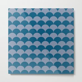 Sapphire Clamshells Metal Print