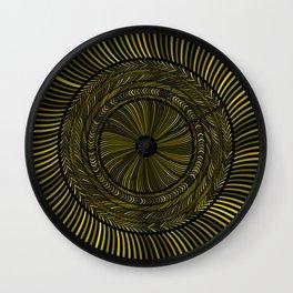 Golden Circles Art Wall Clock
