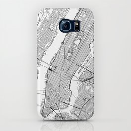 New York City White Map iPhone Case
