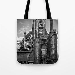 Black and White Bethlehem Steel Blast Furnace Tote Bag