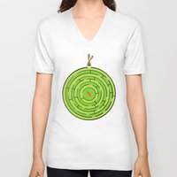 labyrinth V-neck T-shirts featuring Labyrinth by KATUDESIGN