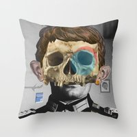 war Throw Pillows featuring War Collage 2 by Marko Köppe
