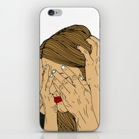 introvert iPhone & iPod Skins featuring Introvert 6 by Heidi Banford