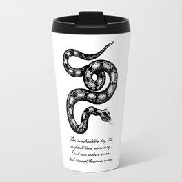 Franz Kafka - Mediation by the Serpent Travel Mug