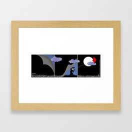 Night Kite Framed Art Print