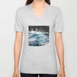 Blue Ocean and Black Rocks Unisex V-Neck