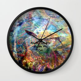 Not All Who Those Wander Are Lost Inspirational Quote With Beautiful Sea Turtle Painting Wall Clock