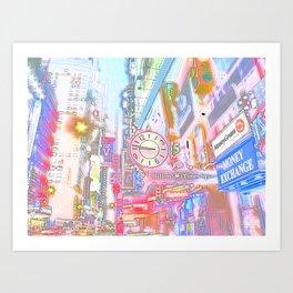 40th & 8th - Midtown, NYC ( Glossy ) Art Print