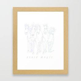 Horse Magic Line Drawing Horse Silhouette Design for #Society6 Framed Art Print