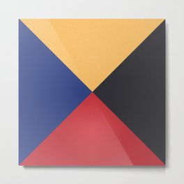 Primary Colors Triangles Metal Print