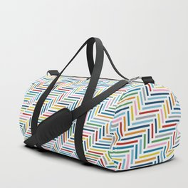 Herringbone Color Duffle Bag