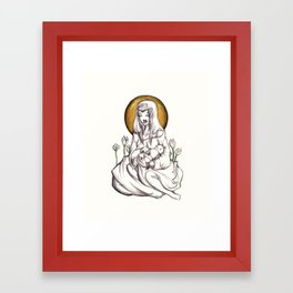 Madonna of Plastic Framed Art Print